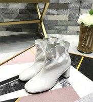 Женские ботинки с цветочным принтом, осенне зимние короткие ботинки на меху, женская обувь на высоком каблуке, Ботинки martin, женские ботильон