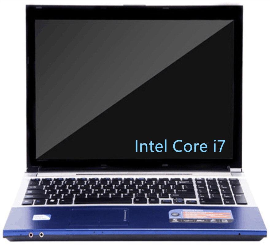 15.6 pollici 1920x1080 p FHD Intel Core i7 CPU 8 gb di RAM 240 gb SSD DA 2000 gb HDD gioco Del Computer Portatile Finestre 7/10 Notebook Computer con DVD-RW