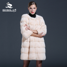 SISILIA 2016 New Women Mink Fur Coats Genuine Leathe Good Quality Mink Fur Coat Women Natural Coats Of Mink Fur Sell Well