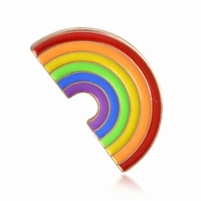 Mode Regenboog LGBT Homo Enamel Piercing Broche Pin Badge Awareness Hart Sieraden Voor Mannen Vrouwen Unisex Gift Hot