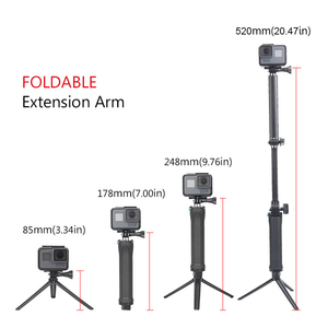 Image 2 - 3 Way Grip Waterproof Monopod Selfie Stick Tripod Stand for GoPro Hero 7 6 5 4 Session for Yi 4K Sjcam Eken for Go Pro Accessory