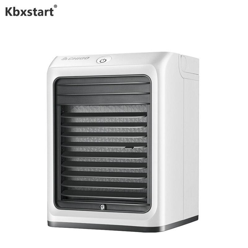 Kbxstart Mini ventilateur de climatisation 3 vitesses USB Portable petit ventilateur de refroidissement avec rideau de glace Air purifié haute qualité bureau à domicile