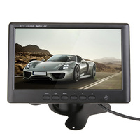7 Car Monitor Color TFT LCD Screen 800*480 2 Channel Video Input for Auto Reverse Camera DVD with Remote Controller DC 12V/24V