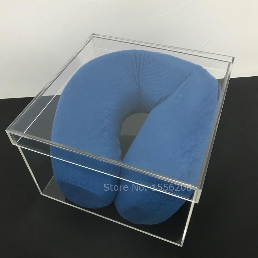 Boîte acrylique transparente de taille intérieure de 9x9x6 pouces, boîte de rangement transparente de cadeau de mariage de boîte-cadeau de plexiglas, boîte d'emballage de perspex