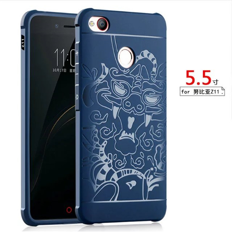 64GB 5 5 3D Carved Dragon Back Cover Capa For ZTE Nubia Z11 High Quality Soft