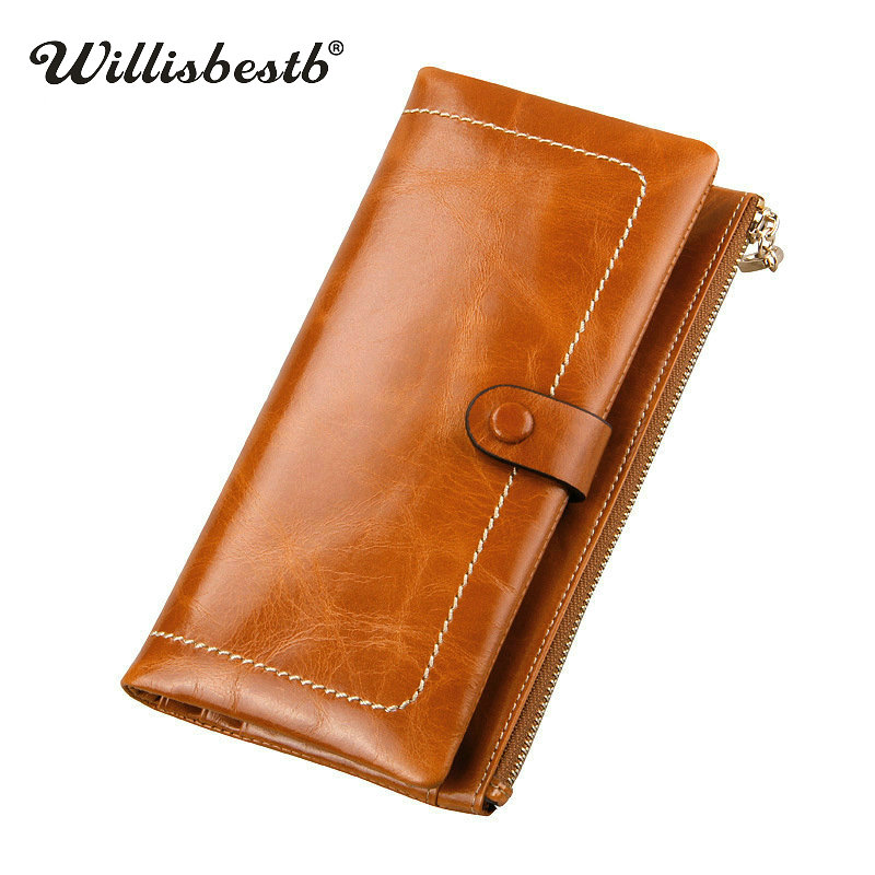 2017 New Women Wallets Genuine Leather High Quality Lady Wallet Long Design Clutch Cowhide Woman Purses Card Holder Female Purse nawo real genuine leather women wallets brand designer high quality 2017 coin card holder zipper long lady wallet purse clutch