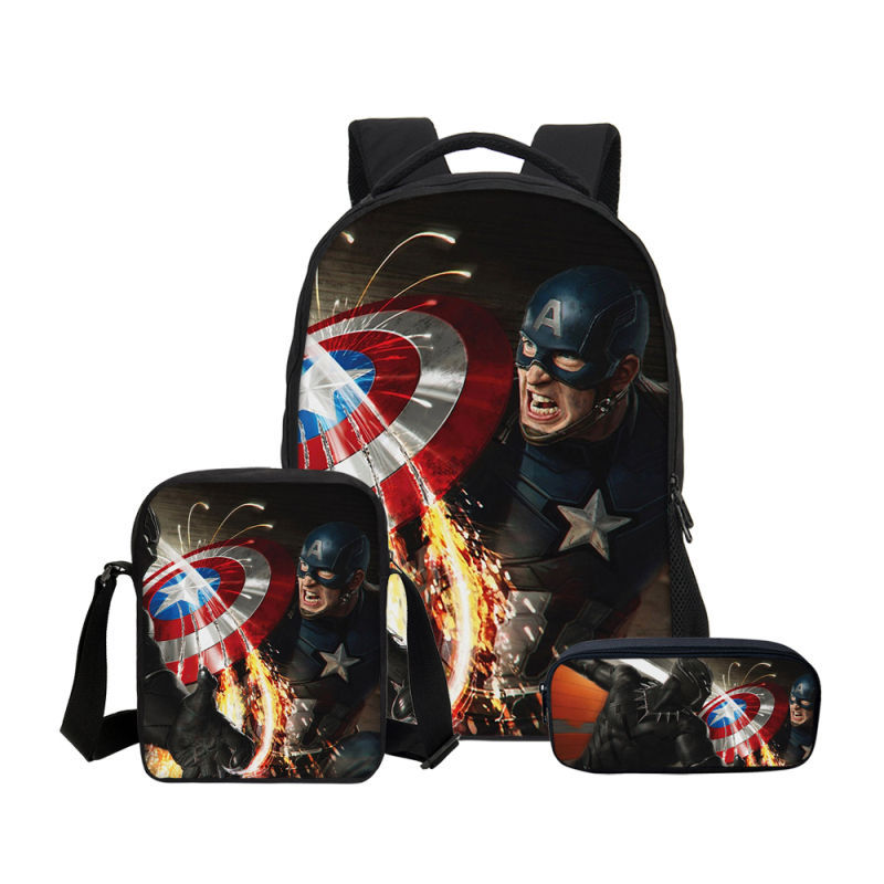 Marvel Black Panther Boys School Backpack Book bag Kids Avengers Infinity war
