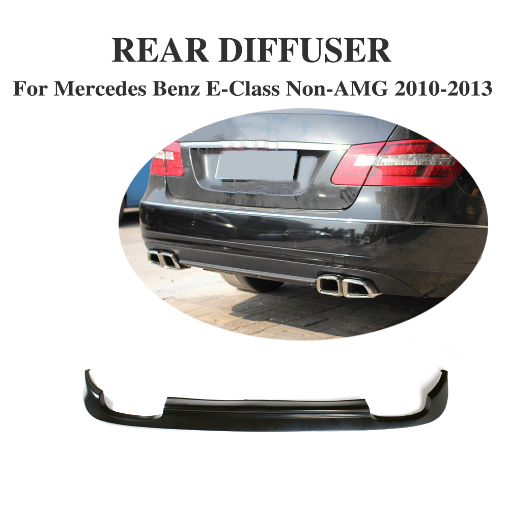 E Class Foe W212 Black Pu Car Auto Rear Bumper Lip Diffuser For Mercedes Benz
