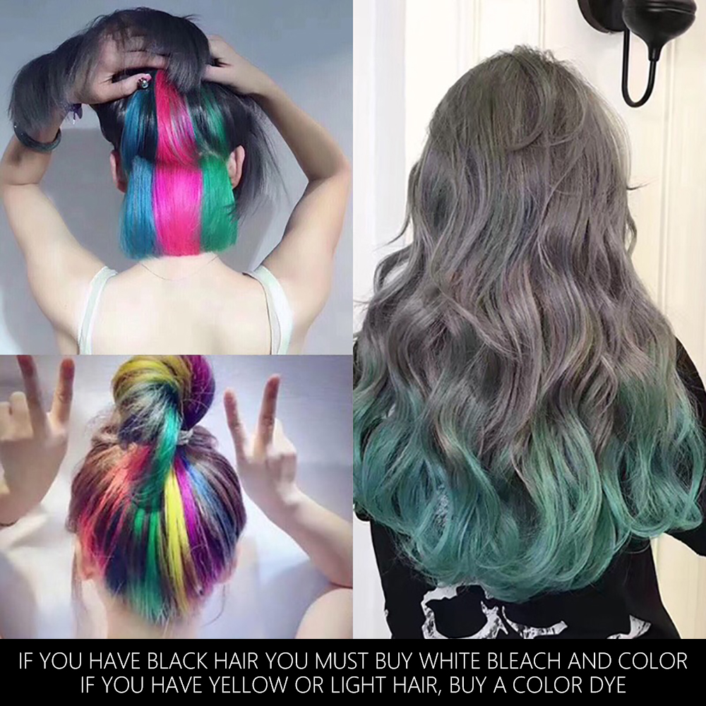 Teayason hair color wax palette blue red green white hair dye spray color waterproof 30days long lasting hair paint cream AM071