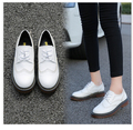 Plus Size 34-43 2017 New Designer Vintage Flat Shoes Round Toe Handmade black Creepers Oxford Shoes For Women