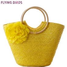 FLYING BIRDS! 2016 beach bag women handbags Bohemian women straw bag summer handbags bolsas women's bags travel bags LS8880fb