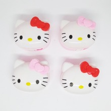Kawaii lovely Hello Kitty double door eraser and pencil sharpener Pencil writing supplies Child KT cat gift Pencil Sharpeners
