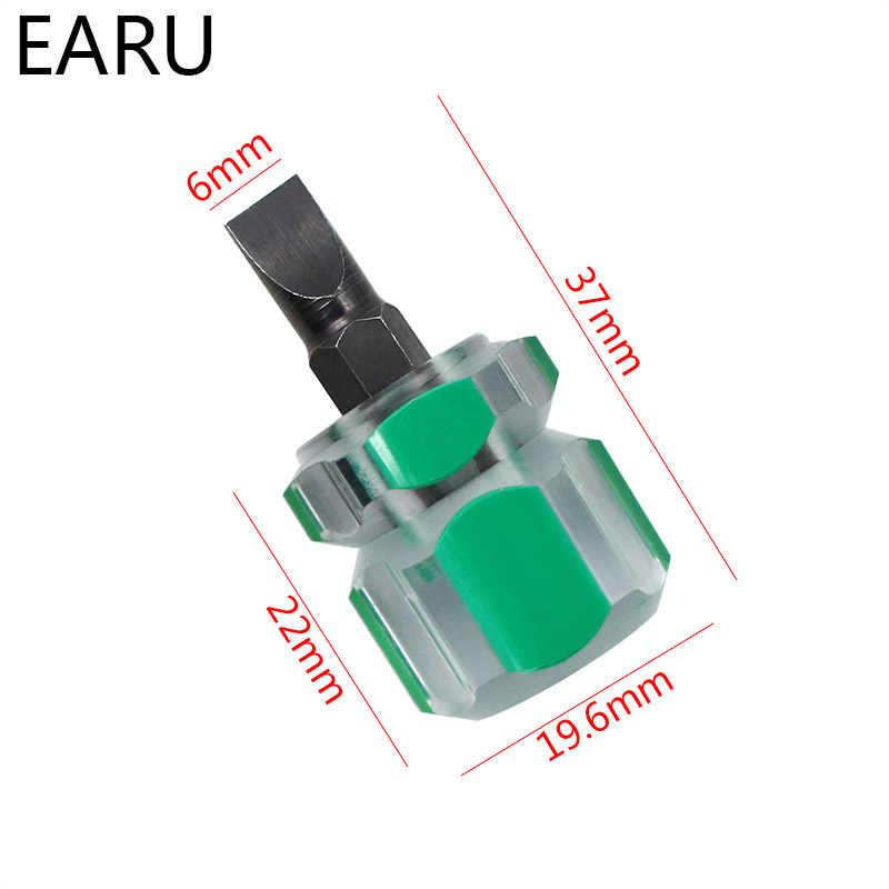 1 pc 車の修理ドライバーキットセットミニ小型携帯大根ヘッドスクリュードライバー透明ハンドル修理ハンドツール精密