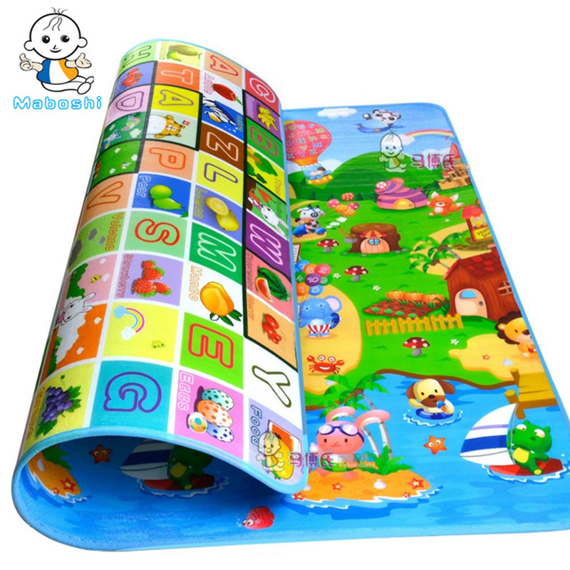 Maboshi Waterproof baby crawling mat children play mat soft carpet kids game mat indoor and outdoor rug picnic mat PXD0012 120cm play mat baby blanket inflant game play mats carpet child toy climb mat indoor developing rug crawling rug carpet blanket