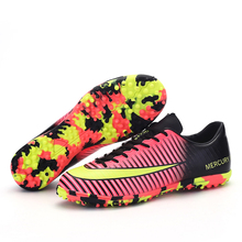 Men Soccer Shoes Professional Indoor Turf Cleats Football Boots Super Football Shoes Women Turf TF Soccer Shoes Court Fut цена