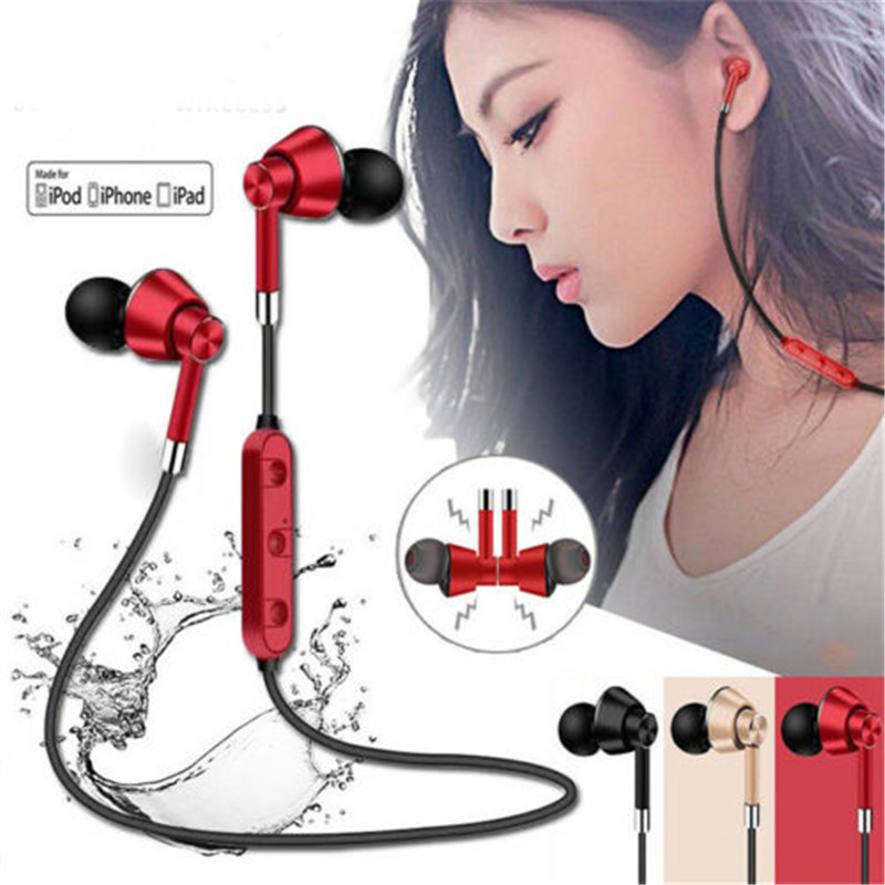 Wireless Bluetooth Earphones Waterproof Sports Earbuds Stereo In-ear Headset For IPhone Samsung Huawei Xiaomi Mix 2