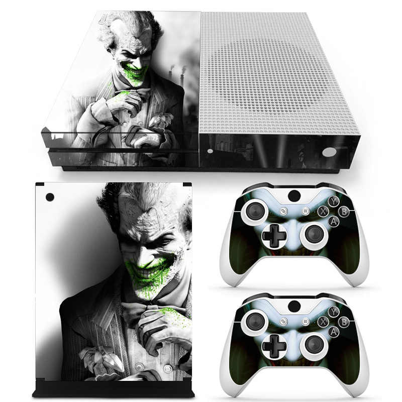 Joker Vinyl Skin Sticker Protector for Microsoft Xbox One SLIM and 2 controller skins Stickers for XBOXONE S