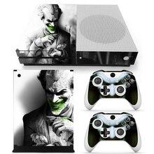 Joker vinyle peau autocollant protecteur pour Microsoft Xbox One mince et 2 contrôleur peaux autocollants pour XBOXONE S
