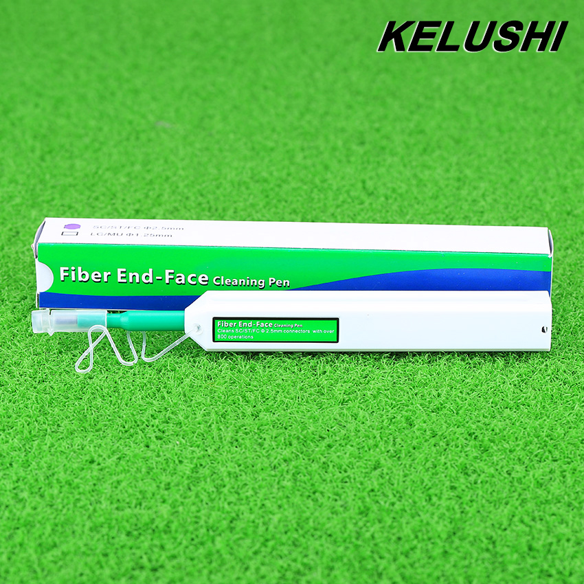 KELUSHI 2016 New Fiber Optic Cleaner for SC ST and FC Optical Fiber Connector Cleaning Tools