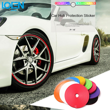 8M 10 Color Car Wheel Hub Tire Sticker Decal Car Decorative Strip Wheel Rim Protection Care Covers for VW golf Opel Toyota Mazda