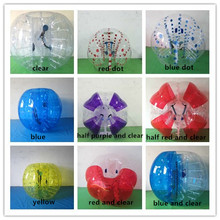 Half color 1.2m 0.8mm PVC outdoor soccer sports inflatable body bumper ball/bubble soccer zorb ball