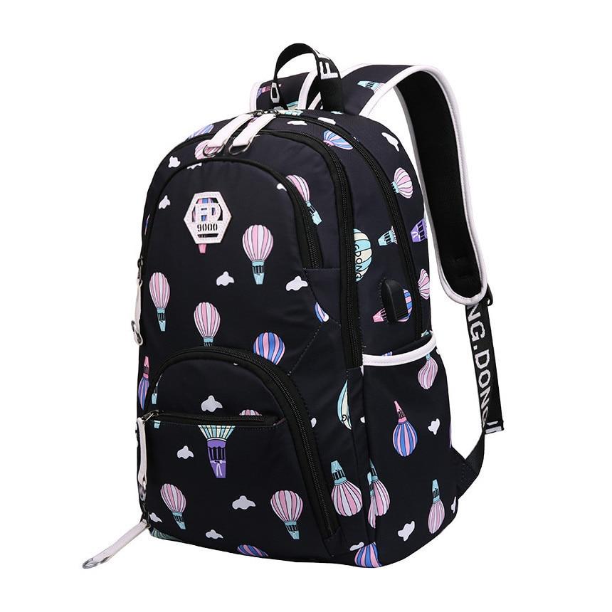 kids cute waterproof school backpack for girls mochila children backpacks new 2018 schoolbag book bag girl student school bags