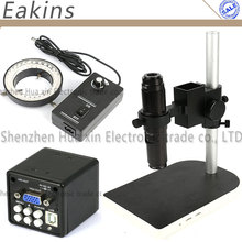 Buy 2 in1 Digital Industrial Microscope Camera VGA USB outputs CCD + 200X HD C Mount Lens + Table Stand Holder + 60 LED Light