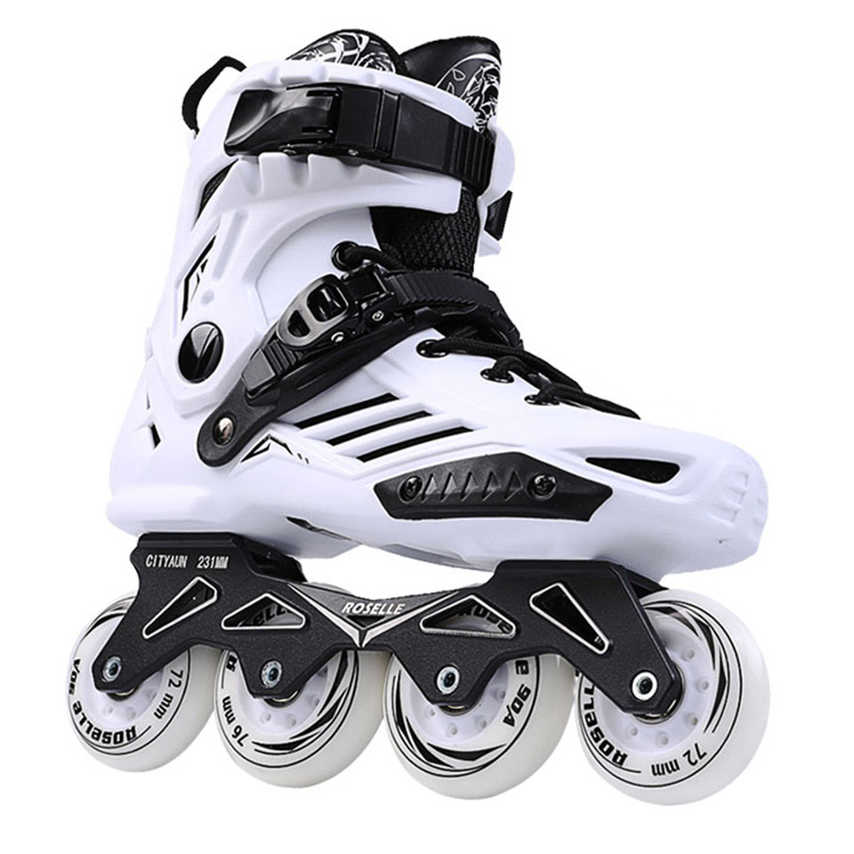 JAPY RS6 Inline Skates Professional Slalom Adult Roller Skating Shoes Sliding Free Skate Patins Size 35-46 Good As SEBA Sneakers