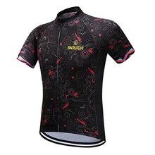 Для мужчин/Для женщин летние Vélo сплошной черный с цифровым принтом короткий рукав для верховой езды Трикотажные Индивидуальные/ Услуги