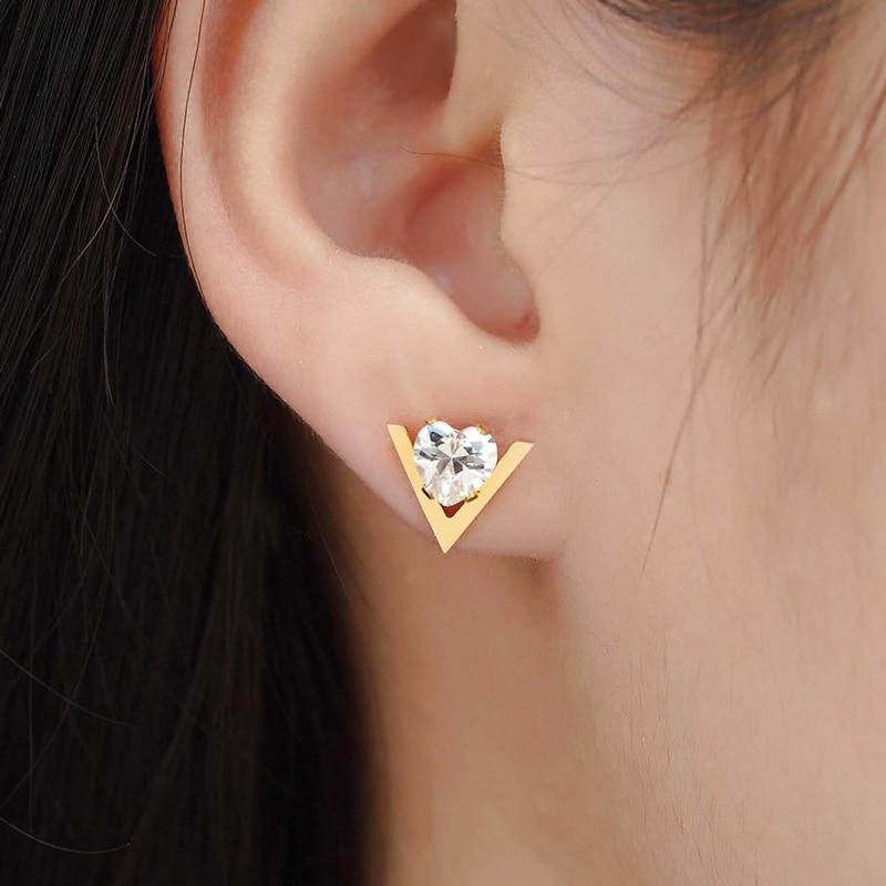 Vanzare fierbinte moda drăguț formă V și inima Crystal Femeie - Bijuterii de moda - Fotografie 5