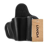 Lixada Leather Holster Outdoor Military Tactical Holster Carry Holsters Belt Outdoor Military Tactical Holster Belt Pouch 3 Slot