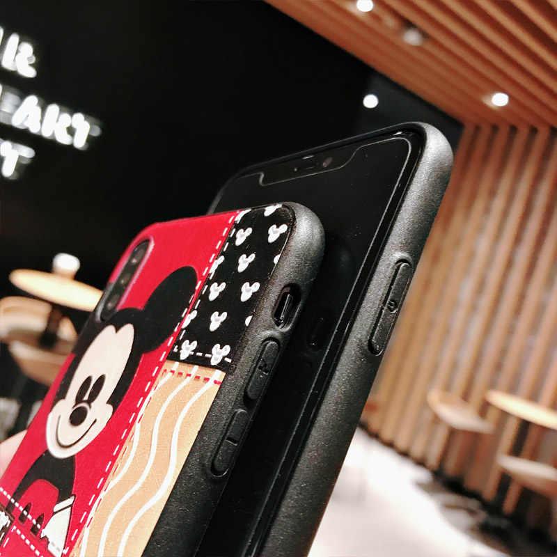 С Микки Маусом Минни Утка милая розовая свинка Телефон чехол для iPhone 6 7 8 плюс шелк матовые мягкие силиконовые чехлы для iPhone X XR XS Max