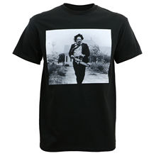 Authentic TEXAS CHAINSAW MASSACRE Leatherface Running Grab T-Shirt S-3XL NEW  Print T Shirt Summer Style Top Tee