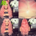8A Pure Pink 100% Human Hair Wigs Body Wave Lace Front wig Brazilian Virgin Human Hair Full Lace Wigs With Baby Hair