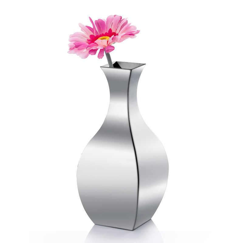 304 Stainless Steel Vase Floor Home Living Room Countertop Flower