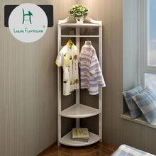 Модные CD вешалки и вешалки для одежды, вешалка для одежды, напольная вешалка для спальни, домашняя угловая полка из цельного дерева, простая одежда