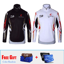 Wholesale Daiwa Men Windproof Long Sleeve Fishing Clothing Jacket Coat Summer Clothes With Towel Scarf