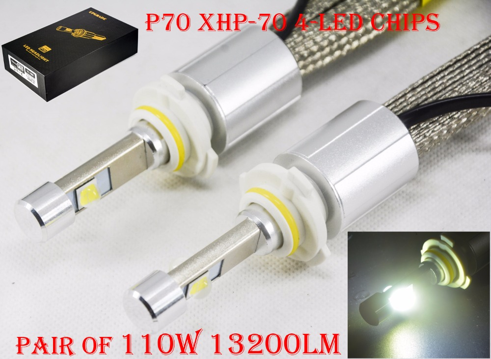 1 Set 110W 13200LM P70 Auto LED Headlight Kit H4 H7 H8 H9 H11 9012 HIR2 9005 9006 HB3 55W 6600LM Super Bright XHP-70 4LED Chips car light cob chip h4 h13 9004 9007 hi lo beam h7 9005 hb3 9006 hb4 h11 h9 h1 h3 9012 auto led headlight bulb 8000lm 12v 6500k