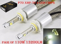 1 Set 110W 13200LM P70 Auto LED Headlight Kit H4 H7 H8 H9 H11 9012 HIR2 9005 9006 HB3 55W 6600LM Super Bright XHP 70 4LED Chips
