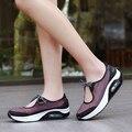Donna SuperStar Sapatos Casuais Tenis Feminino Das Mulheres Ao Ar Livre Nova Moda Respirável Cesta Femme Sapato Trainer Cunha Plus Size 35-41