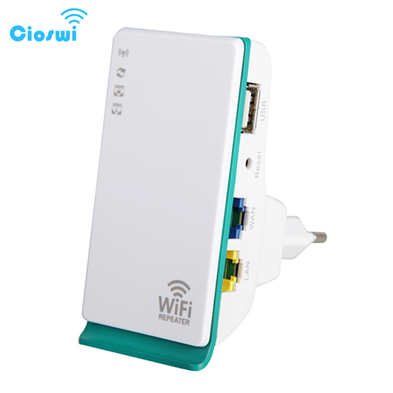 Cioswi WiFi Repeater Long Range Signal Amplifier Wi-Fi Extender Fast Delivery 300Mbps RJ45 Ethernet WLAN Port EU Plug Wireless