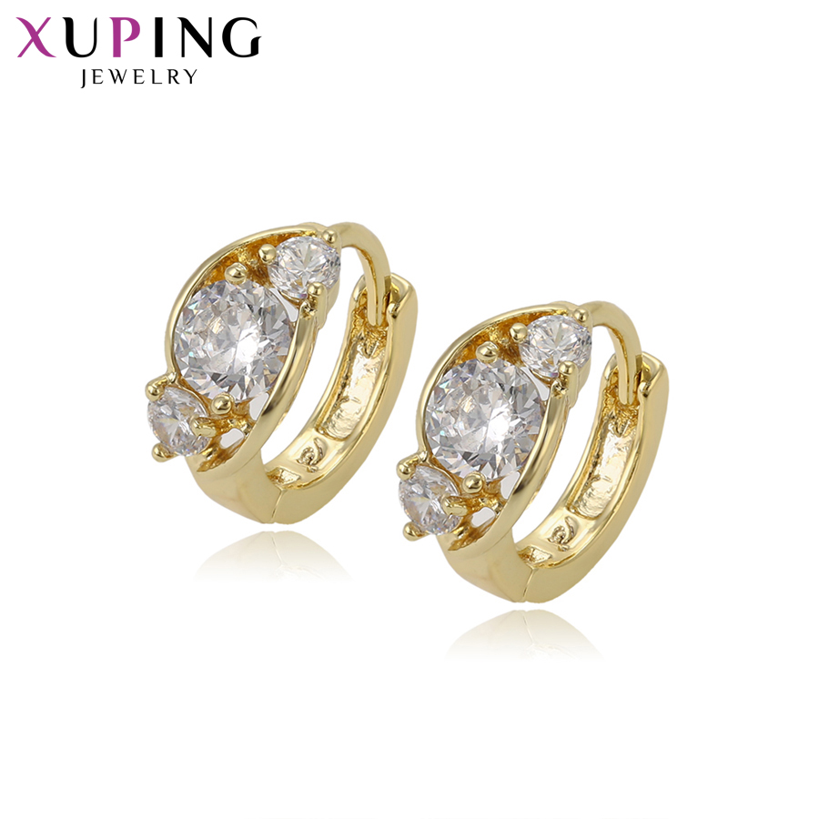 11.11 Xuping Fashion Earrings With Synthetic CZ Hoops Jewelry for Women Beautiful Christmas Day Gift S76,6-94886