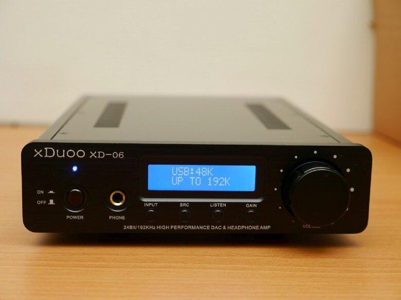 XDUOO XD-06 24Bit / 192KHz High Performance USB / Coaxial / Optical DAC + Headphone tube Amplifier Silver dac xduoo xd 06 decoder high performance headphone amplifier 24bit 192khz usb coaxial optical tube op amp class a buf amp