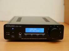 XDUOO XD-06 24Bit / 192KHz Excessive Efficiency USB / Coaxial / Optical DAC + Headphone tube Amplifier Silver
