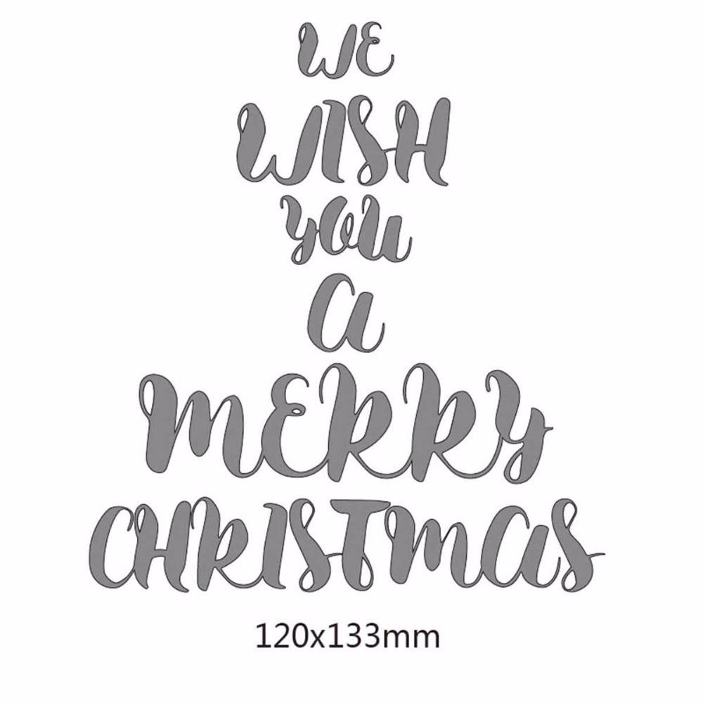 merry chirstmas letters Metal Cutting Dies Stencils For DIY Scrapbooking Decorative Embossing Suit Paper Cards new hot