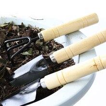 3 Piece Mini Garden Tool Set Gardening Shovels + Spade + Rale With Wooden Handles Metal Head Gardener Bonsai Tool Garden Tools