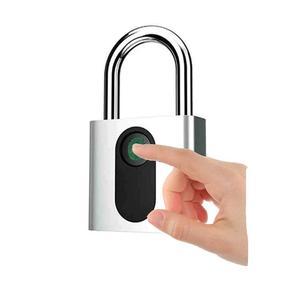 USB charging door lock fingerprint padlock quickly unlock safe keyless smart metal self-developed chip
