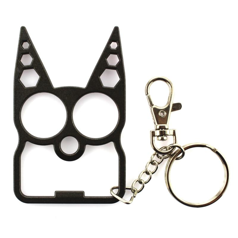 Portable Cute Cat Opener Screwdriver Keychain Self-defense Multifunction Outdoor Gadgets &T8