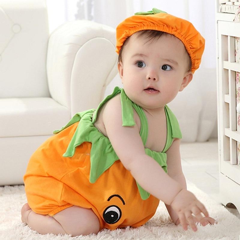 Желтый комбинезон с тигром для маленьких мальчиков и девочек, Милый Летний хлопковый комбинезон для детей 3, 6, 9, 12 месяцев, От 1 до 2 лет комбинезон для малышей