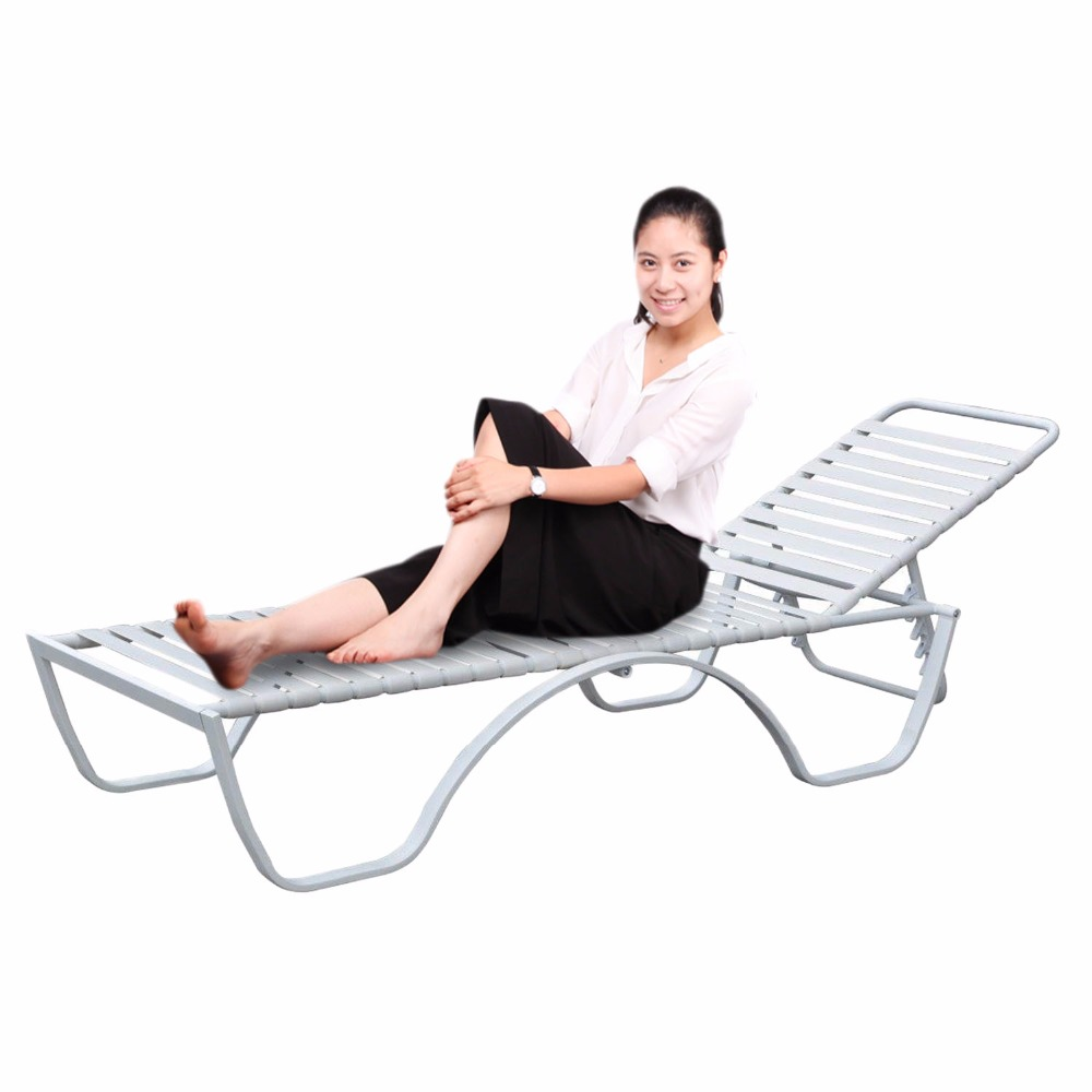 Homdox Adjustable Steel Frame Chaise